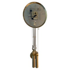 Lucite & Brass Wall Clock George Nelson for Howard Miller
