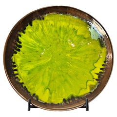 New Hand Made and Unique Ceramic Plate Green Color