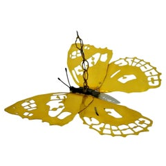 """Wall Lamp Chandelier """"Butterfly - Farfalla"""" in Brass, 1960s"""