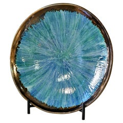 New Hand Made and Unique Ceramic Plate Blu Color