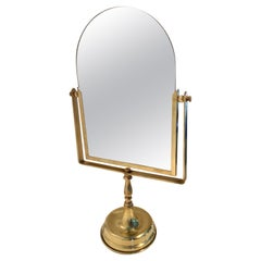 Bronze Vanity or Table Mirror on Stand