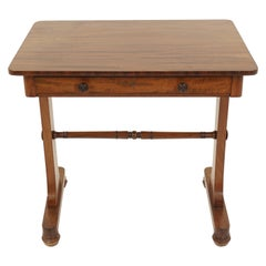 Antique Victorian Desk, Walnut Writing Table, Scotland 1870, B2723