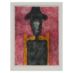 "Rufino Tamayo Mixografia ""Hombre en Negro,"" 1976"
