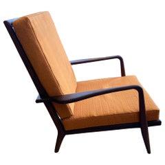 Mid-Century Modern Rail Back High-Back Lounge Chair