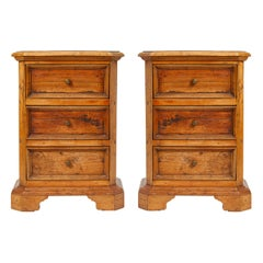 Pair of 19th Century Tuscan Walnut Bedside Tables