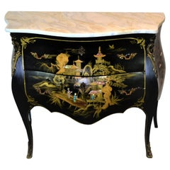 Bombay Chest with Chinoiserie Decoration