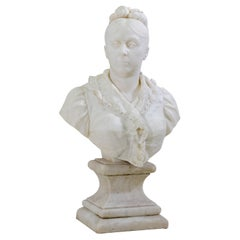 Marble Bust of a Lady, Italy 19th Century
