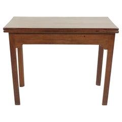 Antique Walnut Table, Georgian Fold Over Tea Table, Scotland, 1820, B2726