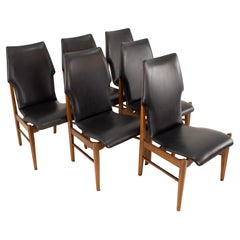 Lane First Edition Mid Century Dining Chairs, Set of 6
