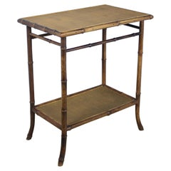 Rectangular Antique Bamboo Side Table