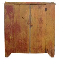 American Rustic Painted Wood Cabinet