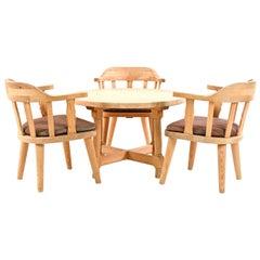 Krogenæs Møbler Norwegian Modern Table & Three Chairs