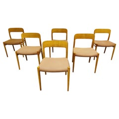 Set of 6 Niels Otto Moller Model 75 Dining Chairs, 1960s