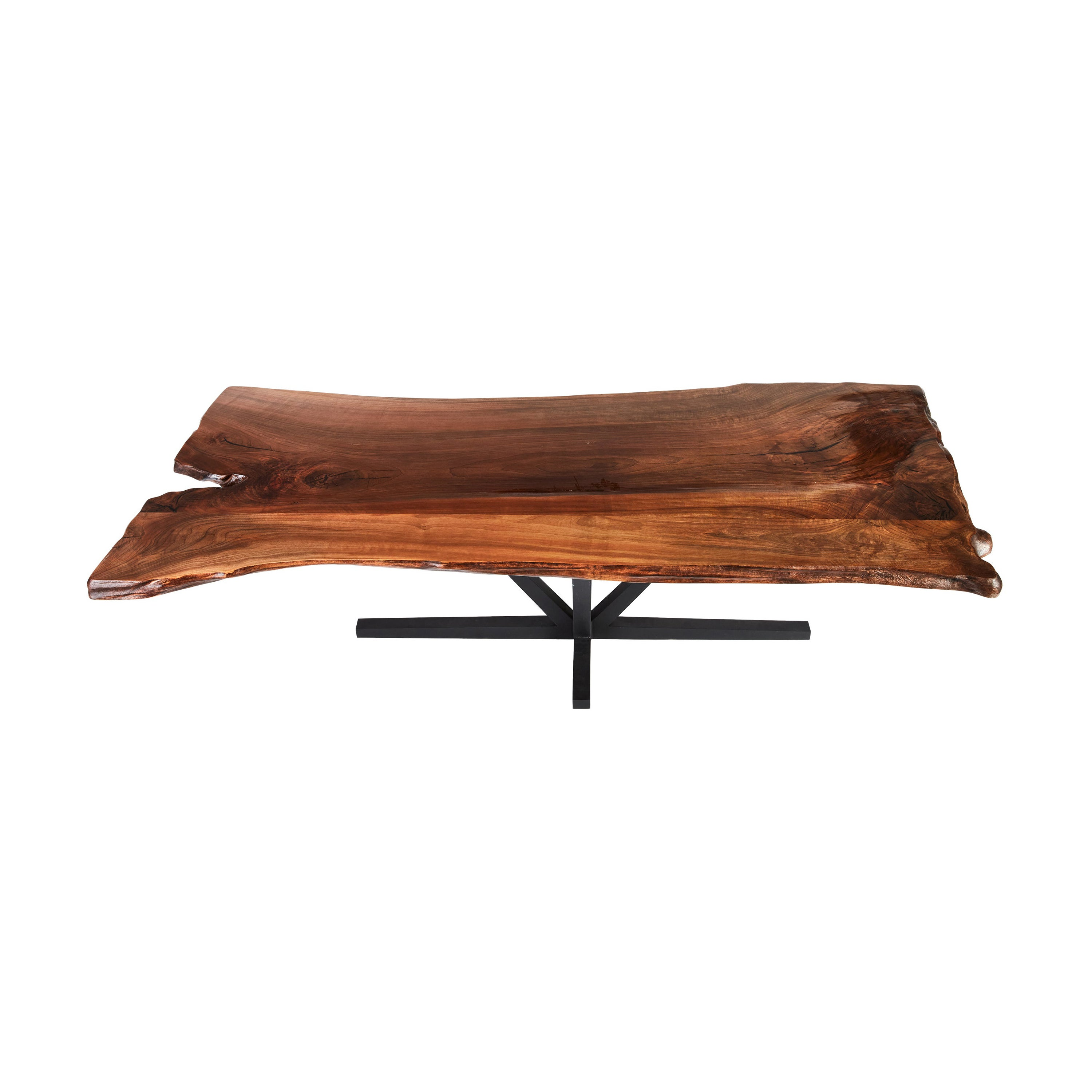 Live Edge Butchers Block Dining Table, Walnut Dining Table