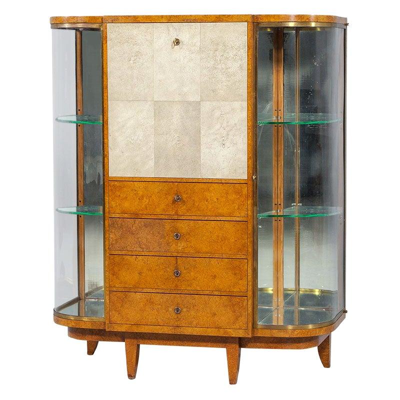 Art Deco Secretaire Cabinet by Jules Deroubaix