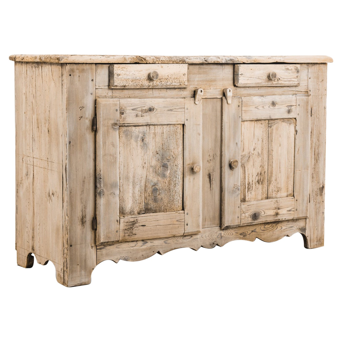 Antique French Country Bleached Oak Buffet