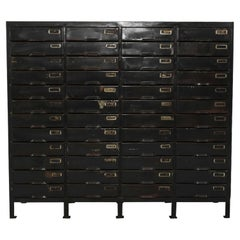 1950s French Metal Filing Cabinet