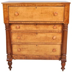 Antique Pennsylvanian 'Tiger Maple' Chest of Drawers, circa 1840