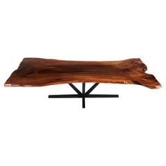 Live Edge Butchers Block Dining Table, Large Walnut Dining Table