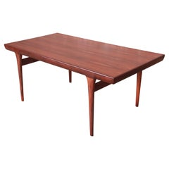 Ib Kofod-Larsen for Faarup Danish Modern Rosewood Dining Table, Newly Refinished