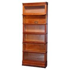Antique Arts & Crafts Globe Wernicke Oak Barrister Bookcase, c1910