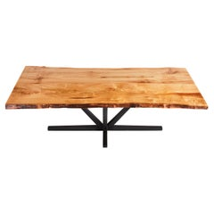 Live Edge Butchers Block Dining Table, Ash Wood Dining Table