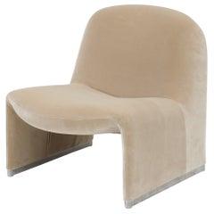 """Single Giancarlo Piretti """"Alky"""" Chair in New Velvet, Artifort, 1970s"""