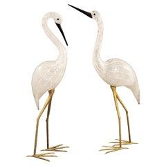 Pair of Murano Glass Cranes