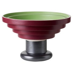 Alzata Verde Rosso by Ettore Sottsass