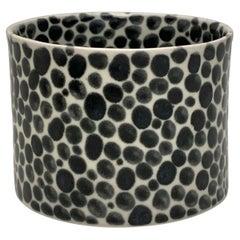 Ink Dots Small Porcelain Vase