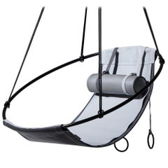 Grey Outdoor Hanging Swing Seat, Vegan and Eco Friendly