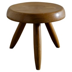 """Charlotte Perriand """"Berger"""" Mid-Century Stool Tabouret in Ash, France, 1960s"""