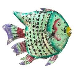 New Green Decorative Metal Fish Sculpture