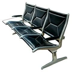 "Sofa ""Tandem"" 3 Seater Design Charles Eames for Herman Miller 60s"