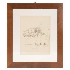 Pencil Drawing Depicting a Dalmatian Dog, USA, 1940