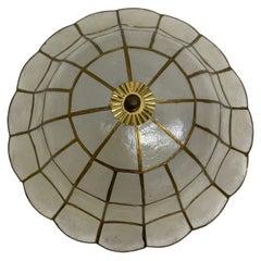 Flush Mount Ceiling Lamp Flower Power Style, 1960s, Italy