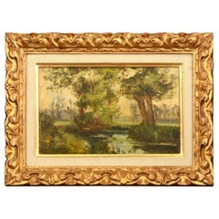 Landscape, Oil on Canvas, 19th Century