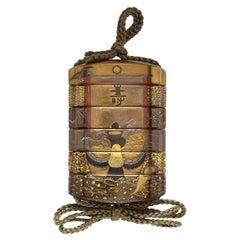 Five-Case Inrō 19th Century Signed Kajikawa Saku Japanese Lacquer Box