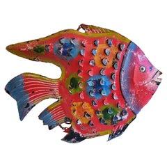 New Red Decorative Metal Fish Sculpture