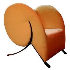 """Armchair """"Virgola - Comma"""" Design Yaacov Kaufman for Arflex, 1991"""
