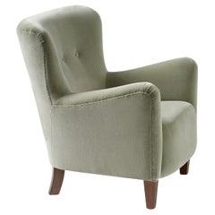 Custom Made RYO Velvet Lounge Chair