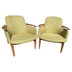Fine Pair of NV53 Chairs by Finn Juhl for Niels Vodder