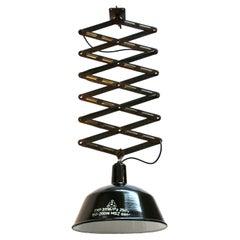 Black Enamel Vintage Industrial Scissor Pendant Lights