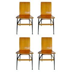 Lot of Four Chairs Design Eugenia Alberti Reggio & Rinaldo Scaioli, 1960s