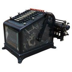 Antique 1910 Burroughs Class 1 No 9 Adding Bookkeeping Typewriter Machine