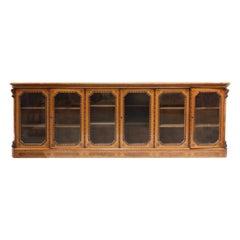 19th Century Victorian Oak and Walnut Bookcase