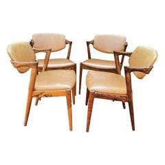 Set of Four Santos Rosewood Model 42 Chairs by Kai Kristiansen