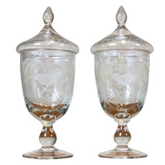 Pair of 19th-Century Hand-Cut Cups