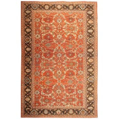 Large Oversized Antique Persian Rust Colored Sultanabad Carpet