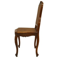 Set of 12 French Louis XV Walnut Side Chairs